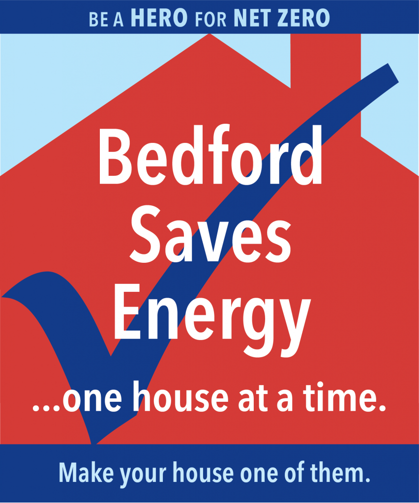 Bedford Saves Energy...one house at a time. graphic